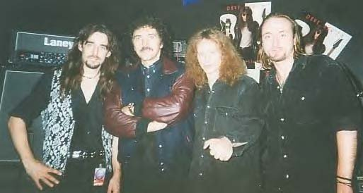 Band with Toni Iommi & Dave Ulrich